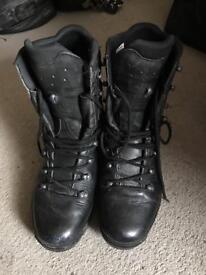 Haix gortex military boots brown & black