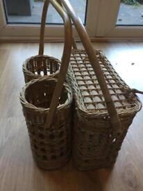 Vintage picnic basket 1950s/1960s