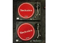 Technics SL-1210MK2 Direct Drive Turntables in excellent condition