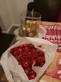 Christmas baubles and decorations