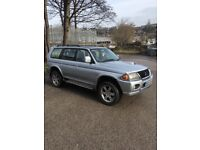 Mitsubishi shogun sport 2.5 diesel 2004 very clean condition new tyres spares or repair