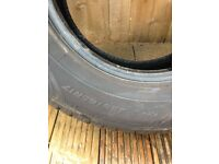 255 65 17 x2 tyres off Nissan navara