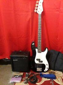 Rockburn bass guitar and amp.