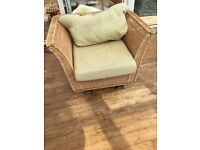 Conservatory furniture three seater & arm chair