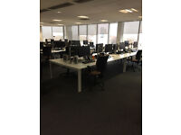 Bench desking in white by Senator-12 in stock