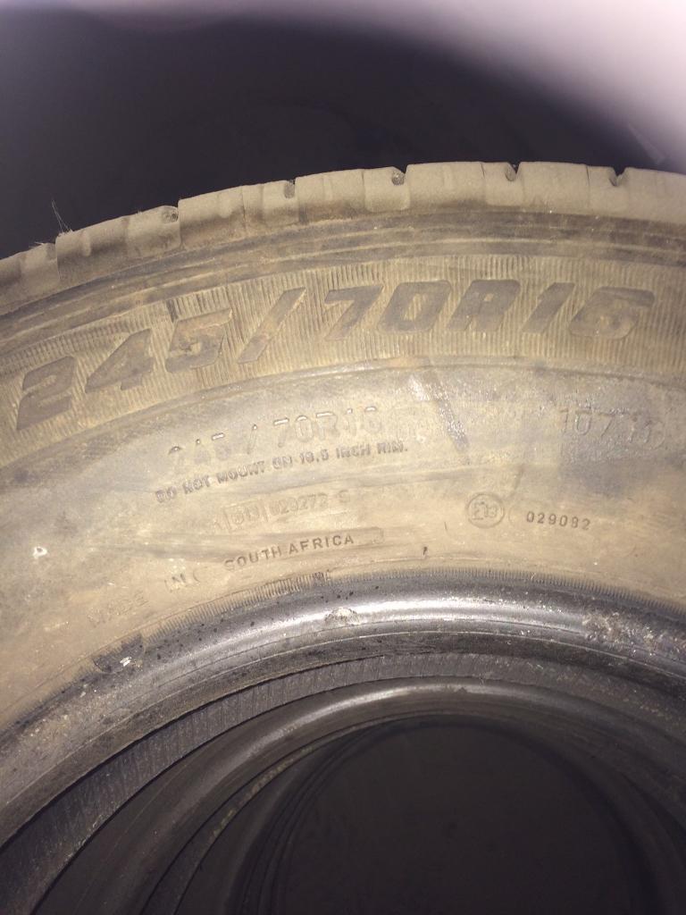Goodyear wrangler tyres x4