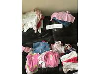 0-3 months baby girls clothes ..... nearly 100 items!!!