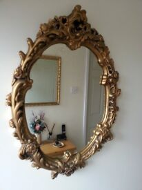 Victorian Style Ornate Plaster Wall Mirror