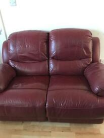 Red recliner sofa chair