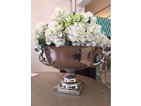 Champagne Bucket w/ Faux Hydrangeas - MUST GO - Collection Only