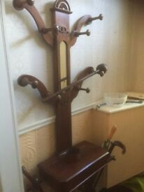 "Victorian Scottish mahogany ""tree of life "" hallstand"