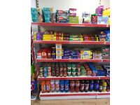 1.25 metre wide shop shelving stand and shelves