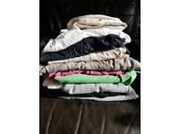 9 Maternity tops and 1 pair of maternity pants