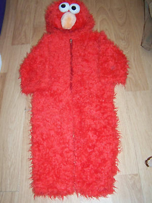 Infant Size 12-18 Months Sesame Street Elmo Plush Halloween Costume EUC - Infant Sesame Street Costumes