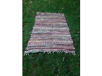 Striped cotton Dhurri rug
