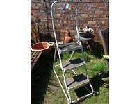 Metal 3 Rung Platform Ladder