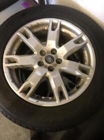 """Rangerover Evoque alloys 18"""" 5x108 4 Pirelli Scorpion tyres"""
