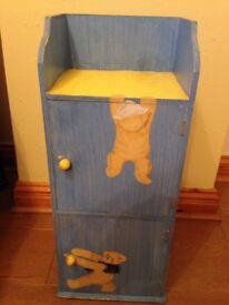 John Lewis Teddy Bear Cupboard, 2 doors, in blue & yellow