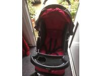 Graco pushchair and car seat.