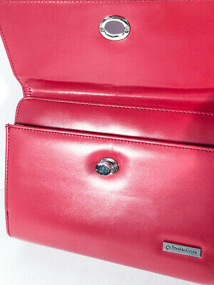 Compact Version Stunning Red Franklin Covey Day Timer - Zipper Twist Shut