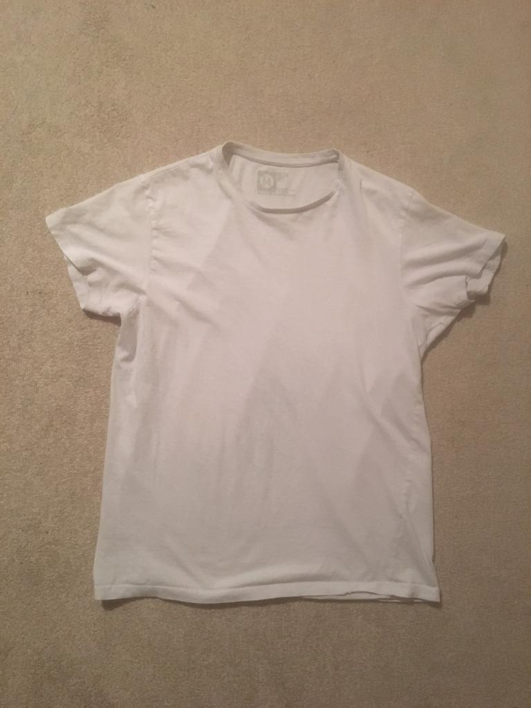 c59a8e7e Primark Cedar Wood State Men's Medium White Slim Fit T-Shirt | in ...