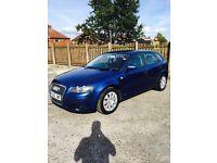 Audi A3 ( 56 reg) 1.9. DIESEL 5 door blue /Full service history,