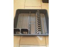 Grey dish rack