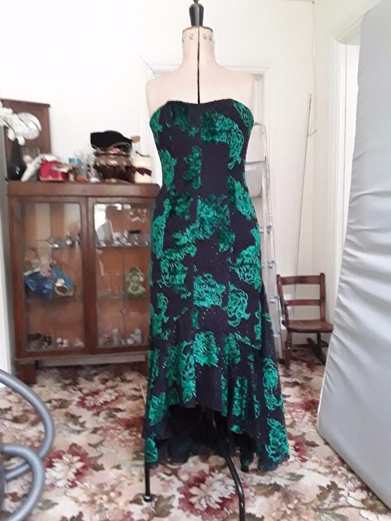 Evening dress and boleroin Crowthorne, BerkshireGumtree - Ted bowker for Coterie dress with matching bolero. emerald green embroidery and embellishment detailing. Label says size 14 however it is more like size 10. Exquisite design. Must see in person. Will need to collect