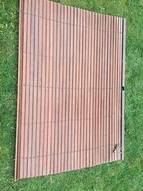 2 x wooden Venetian brown blinds