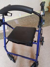 Rollator - 4 wheel mobility walker