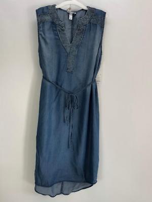 NWT $28 Liz Lange Denim Colored Maternity Dress Size Medium