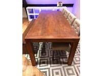 Large solid wood dining room table