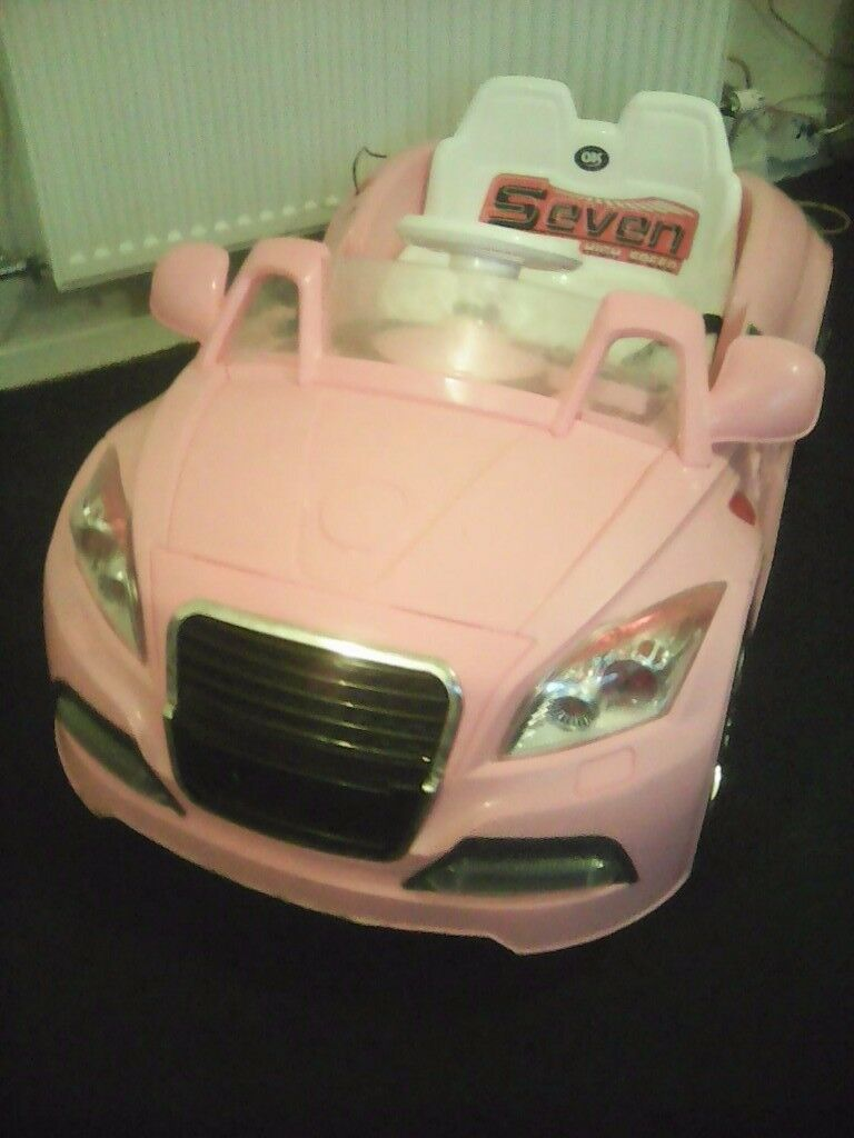 Pink Ride In Car.