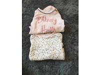 Baby girl long sleeved vests