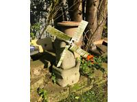 vintage concrete windmill garden pond ornament decoration