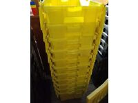 HEAVY DUTY STORAGE BOXES , MOVING BOXES , CRATES WITH LIDS