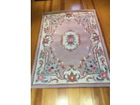 Rug - Pink, Beige, Cream and Green