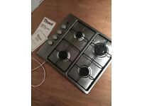 Stainless steel gas integrated hob