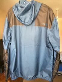 New North Face black and blue jacket