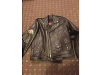 Xl quality leather biker jacket superb condition city of leather