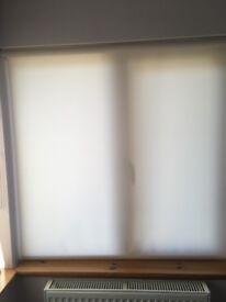2 x ivory roller blinds