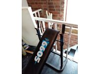 Fully adjustable weights bench