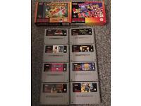 Super Nintendo games for sale or swap