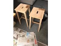Ikea bar stools x2