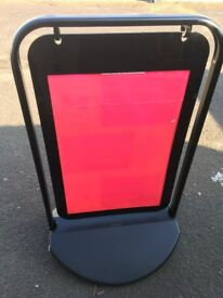 £45 SIDEWALK SIGN WATER. GOOD CONDITION LIKE NEW