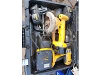 Dewalt drill and circular saw