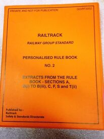 Railtrack 2 x Personalised Rule Books, SEE BOTH, IN HARDBACK FOLDERS