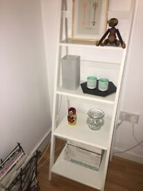 White shelving unit with diagonal beams - collection from SW2