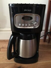 John Lewis filter coffee machine with filters