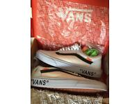 Vans off white trainers size uk8